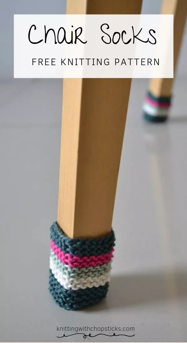 Chair Socks – Knit | Knitting with Chopsticks #knitting #knittingpatterns #knitt…