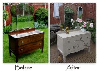 Furniture Makeovers This is my favorite and I'd love to do this to my current dresser.
