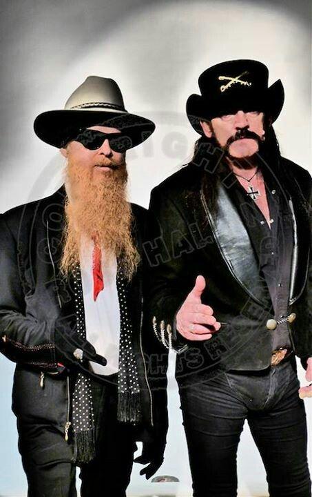 Billy Gibbons and Lemmy Kilmister