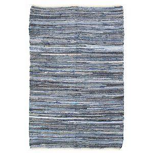 HK-living Vloerkleed blauw jeans katoen 2 maten, Denim kleed €29
