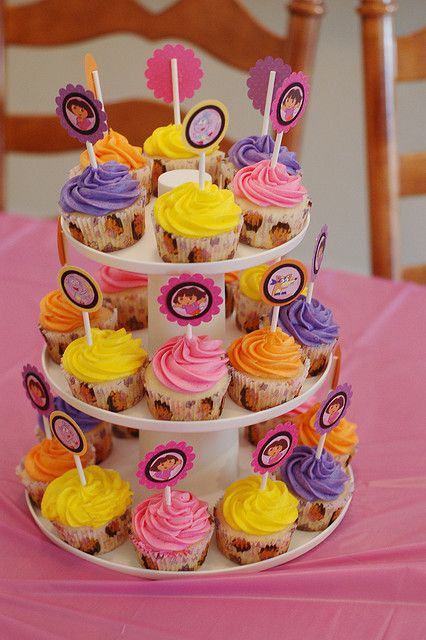 Dora the Explorer Cupcakes by anniebraz, via Flickr