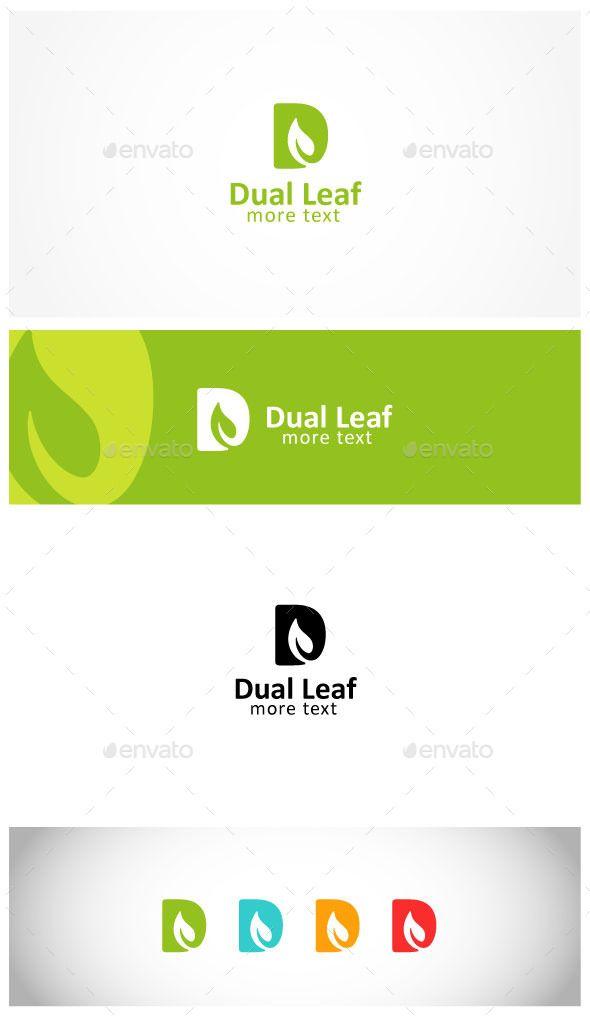 Leaf Letter D Logo