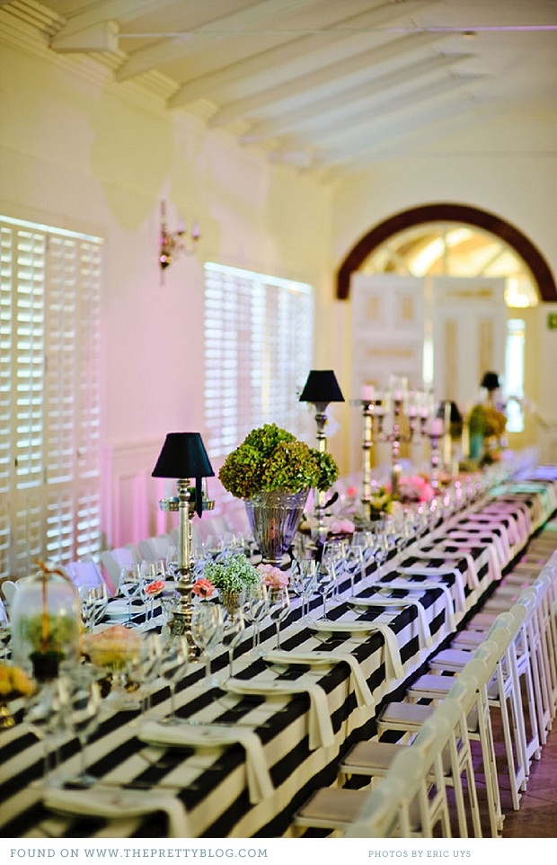 Black White Striped Tablecloths