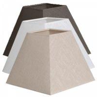 Abat-jour carré pyramide en lin sur pvc transparent
