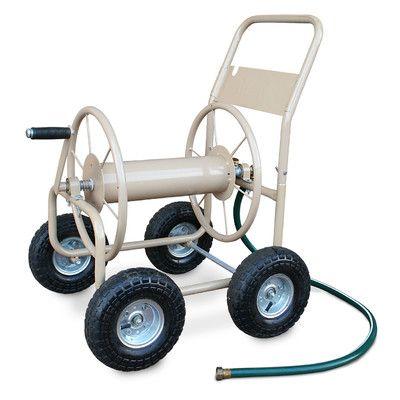 Liberty Garden Industrial 4 Wheel Hose Reel Cart