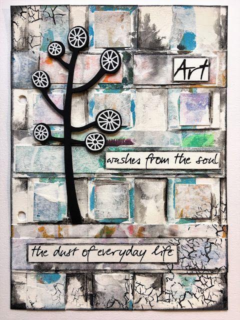 En blogg om mixed media, scrapbooking, art journaling och kortmakeri bland annat.