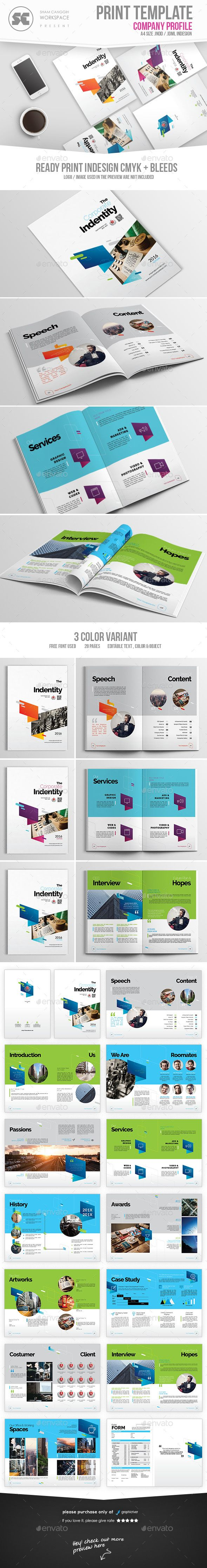 Corporate Profile Brochure Template InDesign INDD