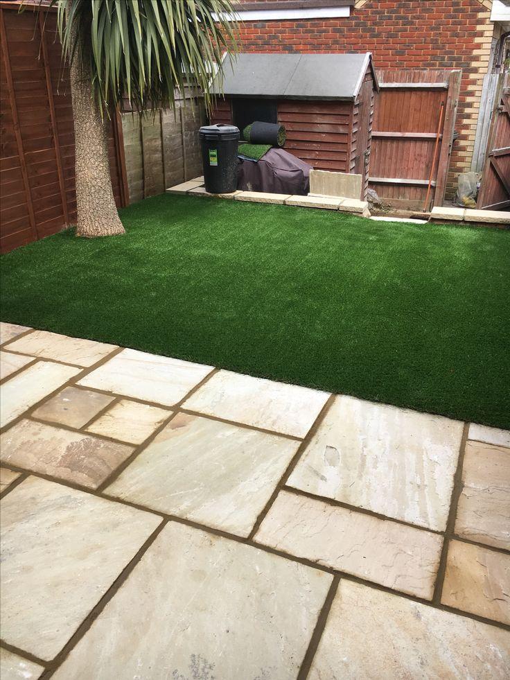 Artificial Grass ideas for a small garden - Patio and Grass
