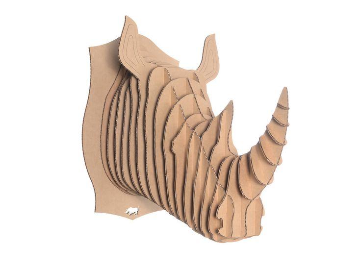 Cardboard Safari-eläimenpää - Pahvinen eläimenpää palkintoseinällesi!