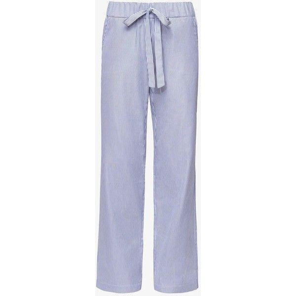 STRIPED PAJAMA PANTS ($210) ❤ liked on Polyvore featuring intimates, sleepwear, pajamas, striped pyjamas, pj pants, sleep pants, blue striped pajamas and cotton loungewear