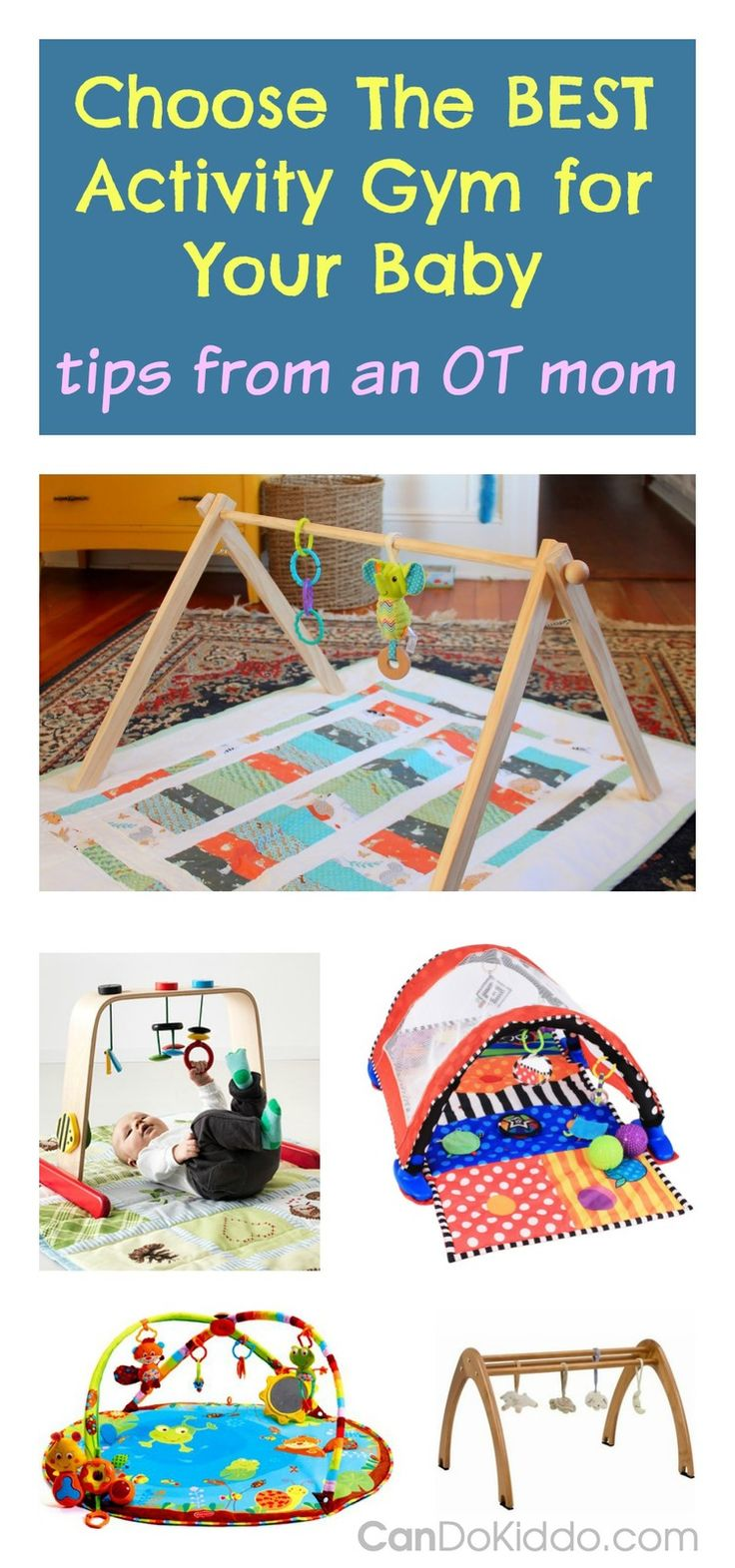 Leka wooden gym is OT's top pick. Choosing the Best Activity Gyms for Baby's development. CanDo Kiddo