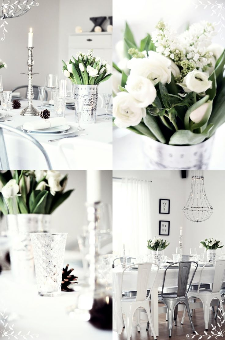 Lovely table setting by one of my favourite bloggers - http://mittvitahus.blogspot.com/