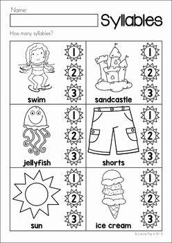 Summer Review Preschool No Prep Worksheets Amp Activities