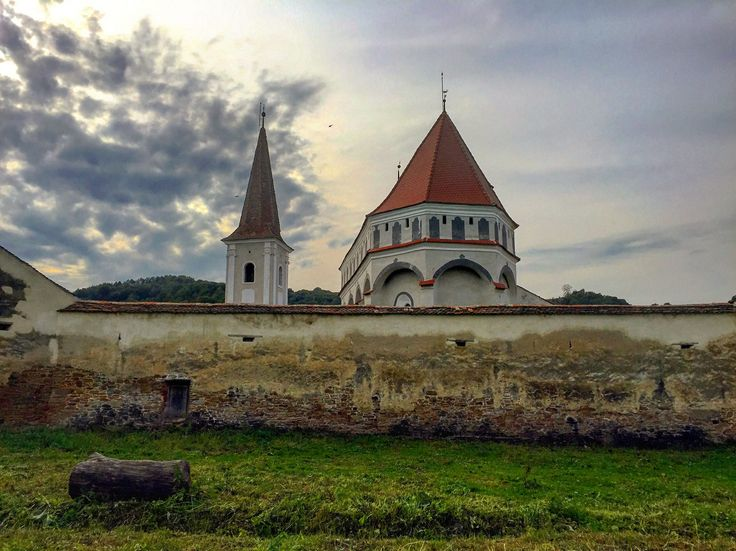 The Fortified Church in Cloasterf, Romania.   #travel #romania #transylvania #church #sky #explore #wanderlsut