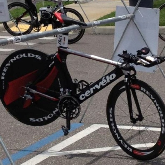 Reynolds wheels and Cervelo bikes.