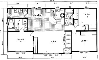 30 X 70 Modular House Plans Mobile Home Floor Plan