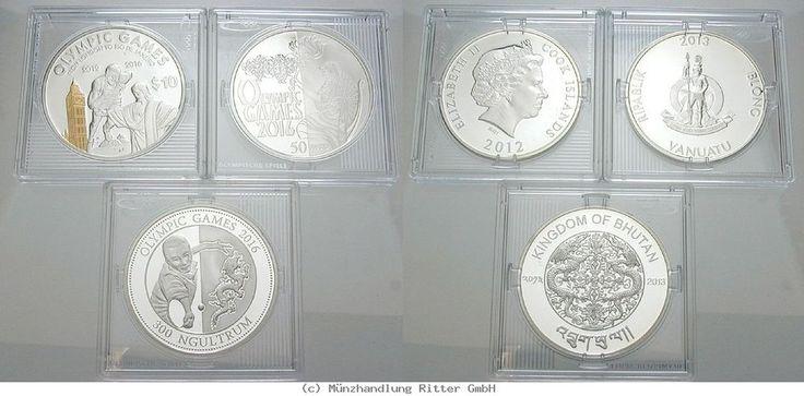 RITTER Diverse Staaten,3 Münzen 2012-13,Olympische Spiele Rio de Janeiro 2016,PP #coins #numismatics