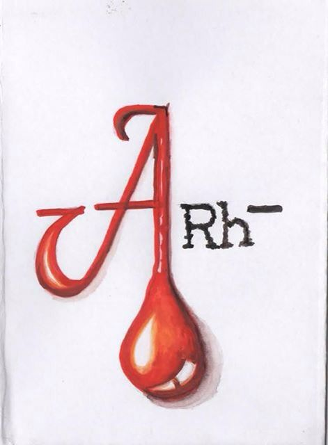 My next tattoo, blood group designed by my brother | tatoo ...