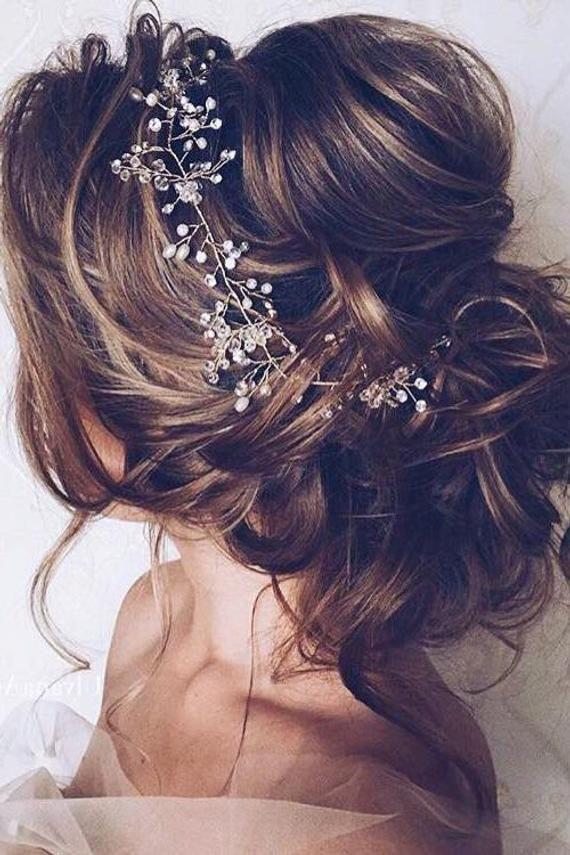 Bridal Hair vine Wedding Hair vine Bridal hair accessories Wedding Hair Accessories Rose Gold Bridal Hair Vine Silver Bridal Hair piece
