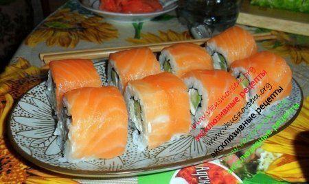 Суши из лосося в домашних условиях