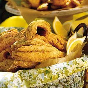Delta-Style Fried Catfish | MyRecipes.com - Soul-food-style catfish fillets follow the South's mantra that everything tastes better fried. The golden, crispy crust gets a kick of flavor from black pepper, red pepper, garlic powder, and hot sauce. Serve with hushpuppies and cole slaw for a well-rounded Southern meal.