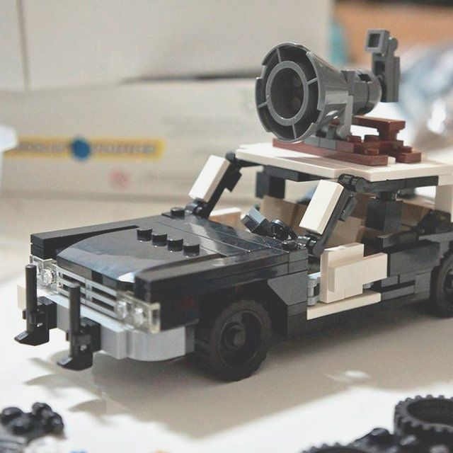 The Blues Brothers Bluesmobile LEGO Kit - $49 - this one reminded me of you, @Ben Twehues