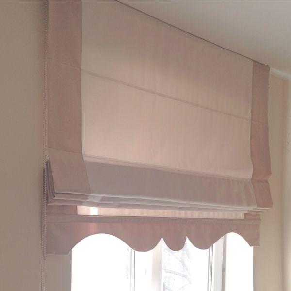 Купить Римская штора с фигурным нижним краем - римская штора, бежевая штора, штора