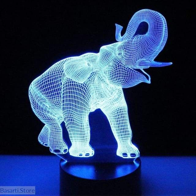 3d Illusion Led Night Light Elephant With 7 Colors Light For Home Decoration Lamp 3d Led Night Light Elephant Night Light 3d Night Light