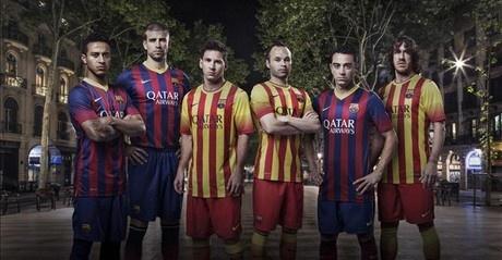 El Barça recupera las rayas y lucirá la 'senyera' en la segunda equipación