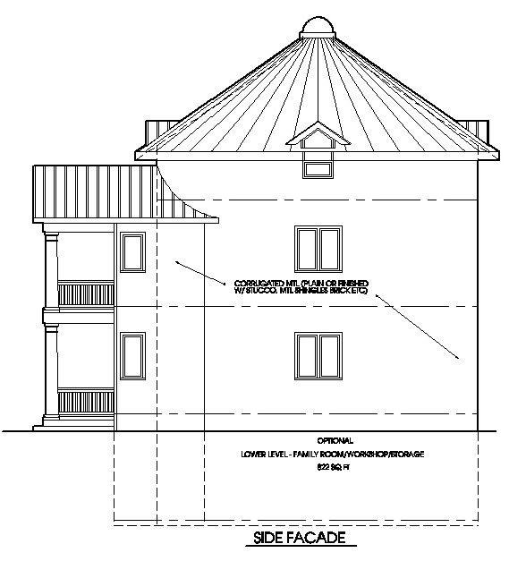 The Classic Plan - Grain bin house