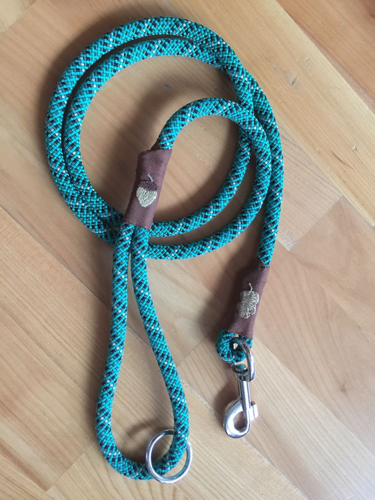 DIY dog leash from old climbing rope