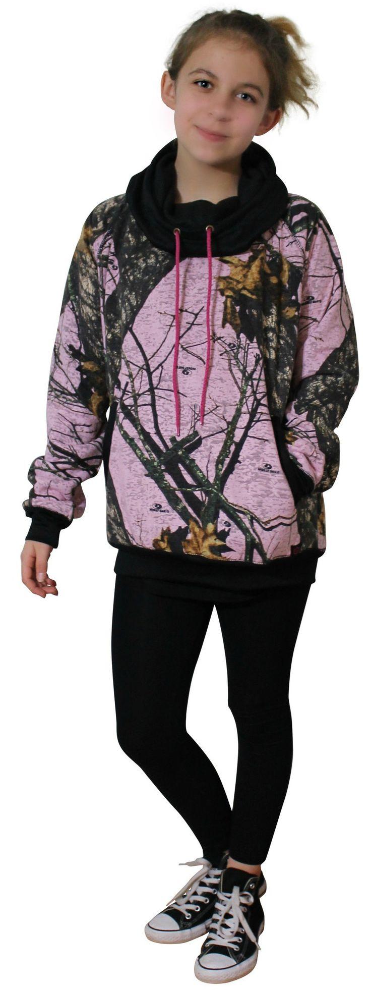 Pink camo mossy oak hoodie