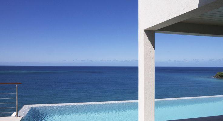 laluna villas with a view of the Caribbean Sea