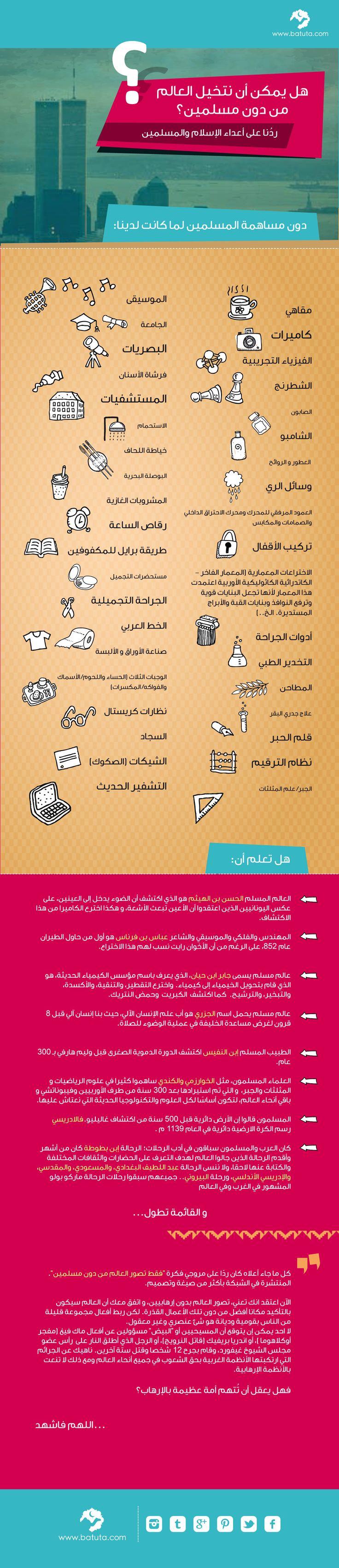 هل يمكنك أن تتخيل العالم دون مسلمين؟  www.batuta.com