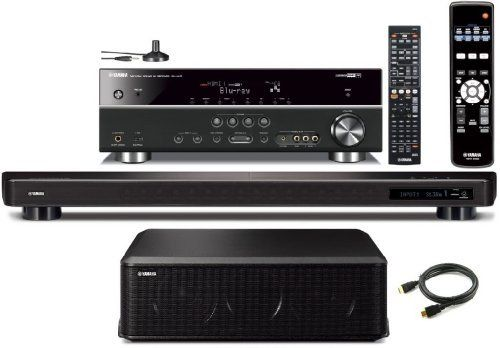 Yamaha CINEMA DSP YSP-2200 IntelliBeam 7.1 HD Digital Audio True Surround Sound Projector Low Profile 16-Speaker Soundbar with a Slim 100 watt Powerful Subwoofer + Yamaha RX-V473 Surround Realism CINEMA DSP 525 Watts AV Receiver + Yamaha Universal iPod / iPhone Dock by Yamaha. $999.95. Digital Sound ProjectorGeneral Specifications:Output Power: 132 W total power: 2W x 16 beam drivers with a 100W input power capacity subwooferOutput Channel: 7.1-channelPower Consumption: 55 WSt...