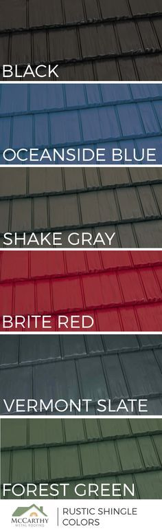 Popular Metal Roof Colors | 6 On-Trend Shades of the Rustic Shingle Aluminum Roofing System by McCarthy Metal Roofing in Raleigh, NC