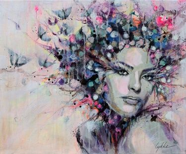 "Saatchi+Online+Artist+Lykke+Steenbach+Josephsen;+Painting,+""Blossom""+#art"