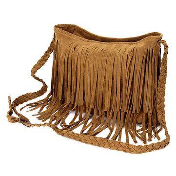Women Retro Tassel Bags Girls Casual Shoulder Bags Crossbody Bags Messenger Bags - US$14.21