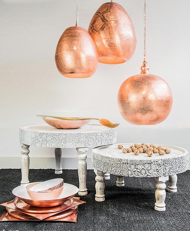 Hanglamp Ball - Oosters - Filisky - Koper - Medium - Zenza kopen? - Woonwebwinkel LiL.nl