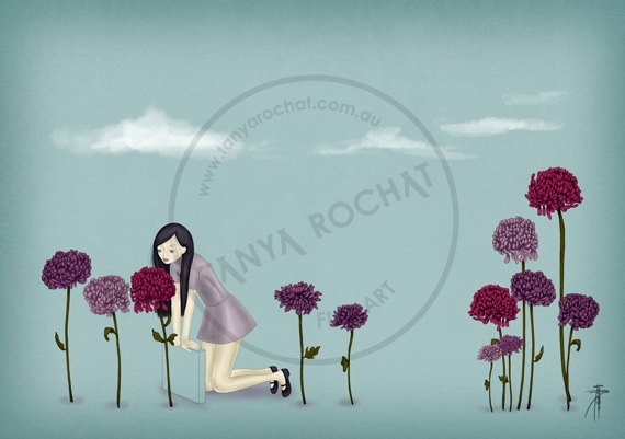 Greeting card illustration of a fashion model girl by TanyaRochat, $5.50