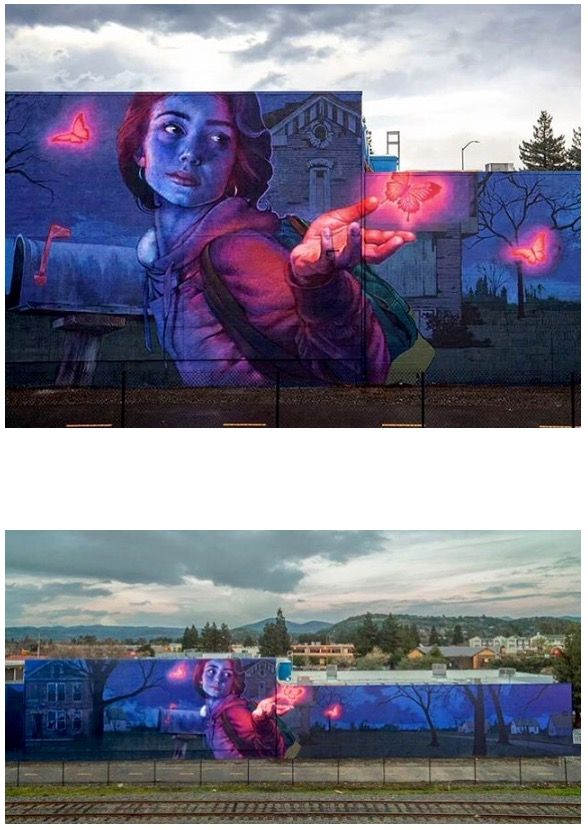"""Knockin' on Heaven's Door"" by Natalia Rak + BEZT in Napa, CA, 1/17 (LP collage)"