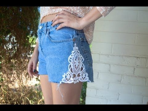 """Here's an easy way to transform a simple pair of denim shorts for the summer. Hope you all enjoy and let us know what other diy's you'd like to see.    What you'll need:  - Denim shorts  - Lace trim  - Sewing machine or needle and thread  - Scissors and pins    XOXO  Melissa & Steph     MUSIC UNDER A CREATIVE COMMONS ATTRIBUTION LICENSE:  """"Uh Hmmm..."""" by Sa..."""
