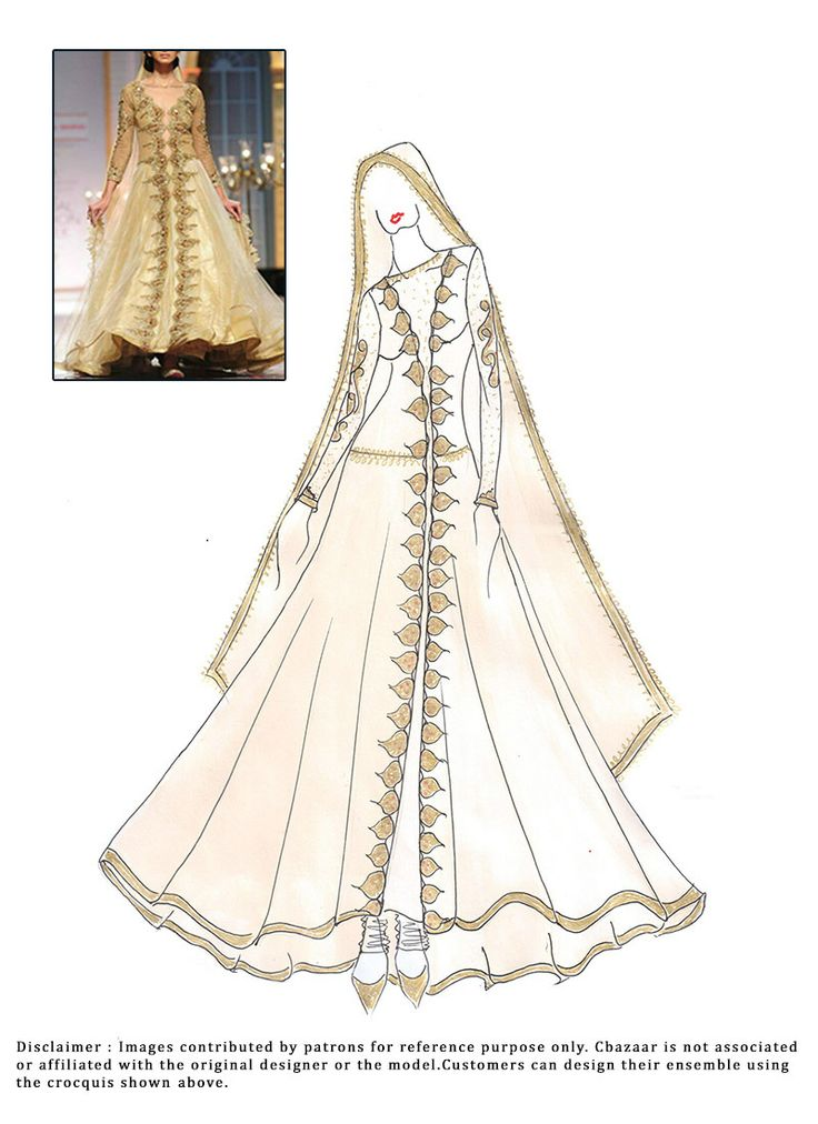 38 best images about Anarkali suits sketches on Pinterest