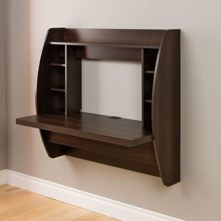 Prepac Brown Desk with Shelves-EEHW-0200-1 - The Home Depot