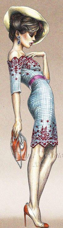 Biótipos na ilustração de moda – Industria Textil e do Vestuário - Textile Industry - Ano VIII