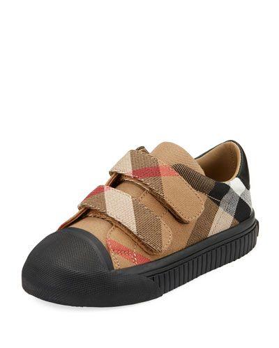 e2937926a2fe K0R0A Burberry Belside Check Sneaker, Beige/Black, Youth   LC Girls ...