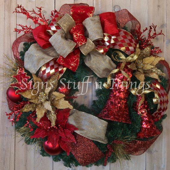 Elegant Christmas Wreath Designer Christmas Wreath Christmas Wreath