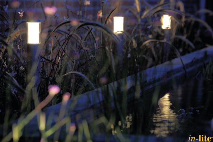 Sprankelend water | Vijver | Staande lamp LIV | Border | Inspiratie | 12V | Outdoor lighting
