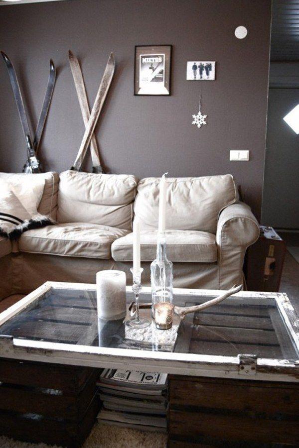 Table basse caisse bois pour rangement