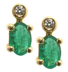 Diamond and emerald earrings | Hannoush Jewelers